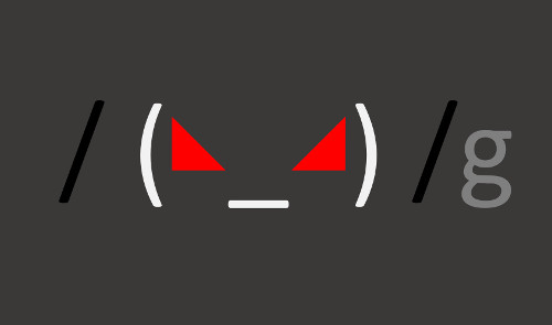 A regular expression with an angry face in it