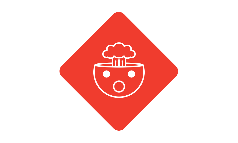 The git logo with a exploding head inside